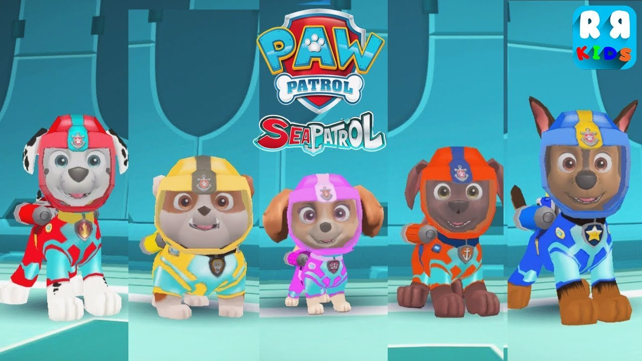 bd1a428f1f PAW Patrol Air and Sea Adventures - Swim with All Paw Patrol Marshall,  Rubble, Skye, Zuma and Chase