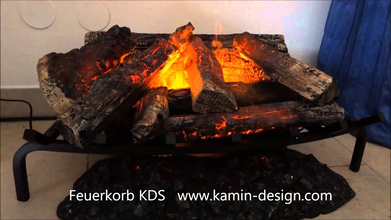 elektrischer kamineinsatz feuerkorb kds zum einsetzen in jeden kaminumbau youtube. Black Bedroom Furniture Sets. Home Design Ideas