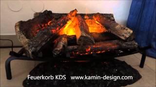 Elektrischer Kamineinsatz Feuerkorb KDS -  zum Einsetzen in jeden Kaminumbau