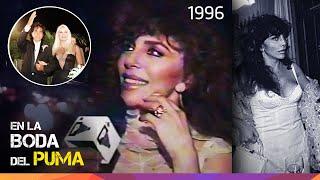 Verónica Castro en la Boda del Puma Rodríguez - 1996