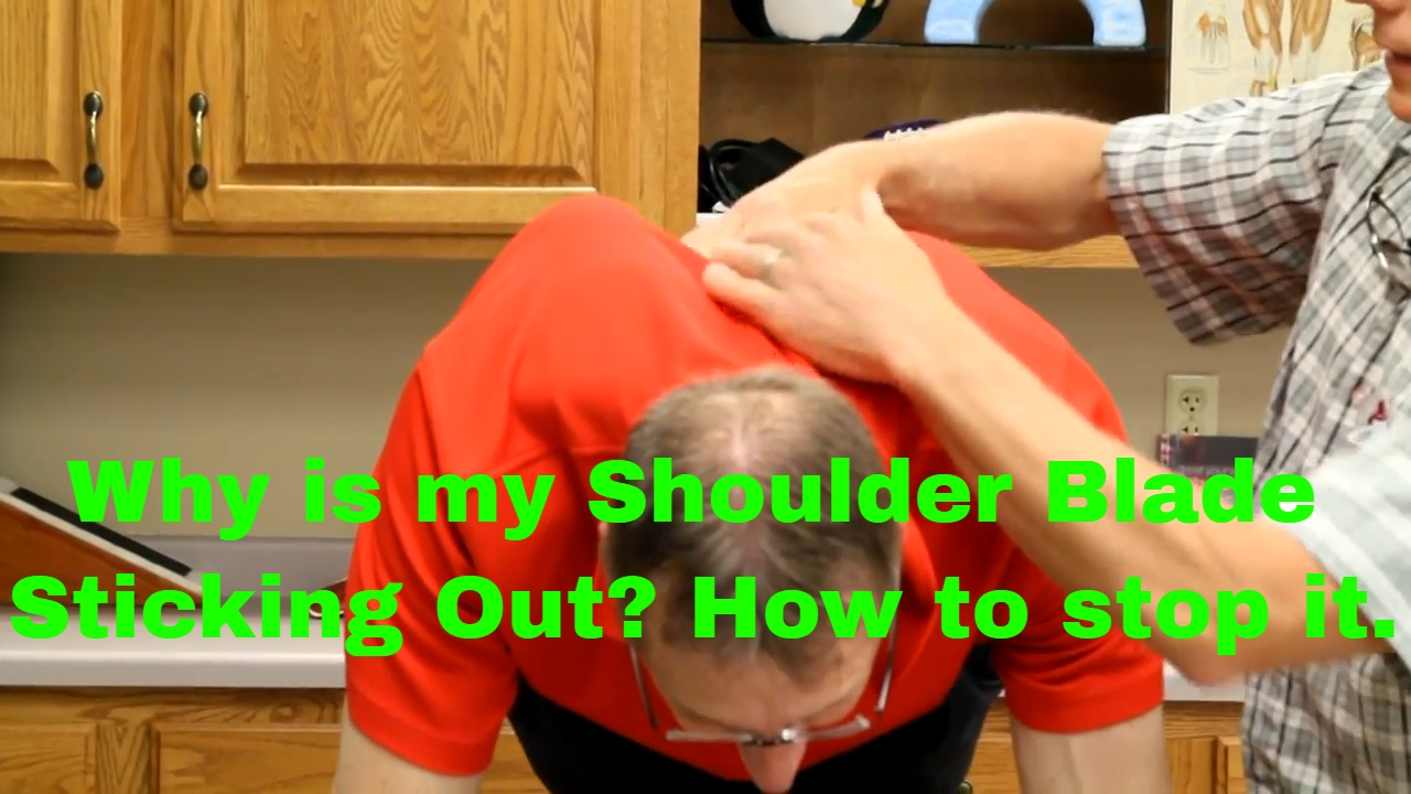Why Do My Shoulder Blades Stick Out 10 Exercises Stretches Winging Scapula Youtube