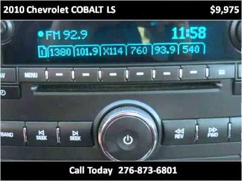 2010 Chevrolet COBALT LS Used Cars Honaker VA. Modern Chevrolet Sales