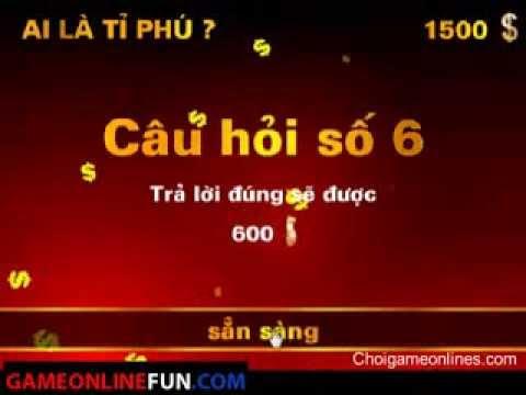 Game Ai là Triệu phú online, Game Ai la trieu phu Tieng Viet - Game hay