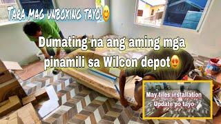 Dumating na ang aming mga pinamili sa wilcon depot / tara mag unboxing tayo / paggawa ng bahay