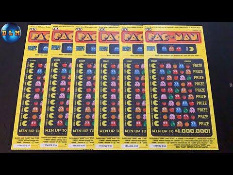 $1 MILLION PRIZE PAC-MAN SCRATCH OFF TICKETS