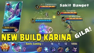 new build karina yang ini sakit banget kuat darah untuk lawan 1 vs 5 mobile legends gameplay