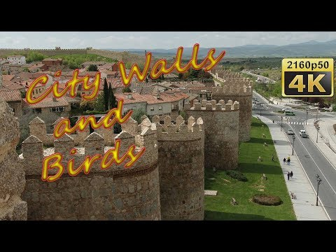 Avila, Walk on the City Walls - Spain 4K Travel Channel