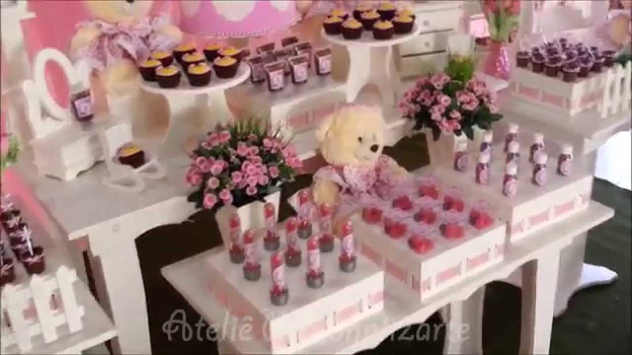 Decoraç u00e3o de festa infantil Ursinhas YouTube # Decoração Festa Enfermeiro