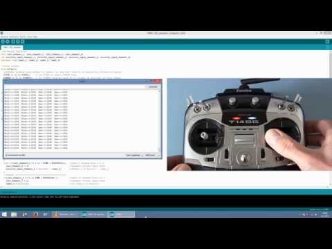YMFC-3D part 2 - Connect RC transmitter and receiver - Arduino quadcopter.