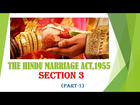 Hindu Marriage Act, 1955 (definitions) in telugu (section 3) part-1