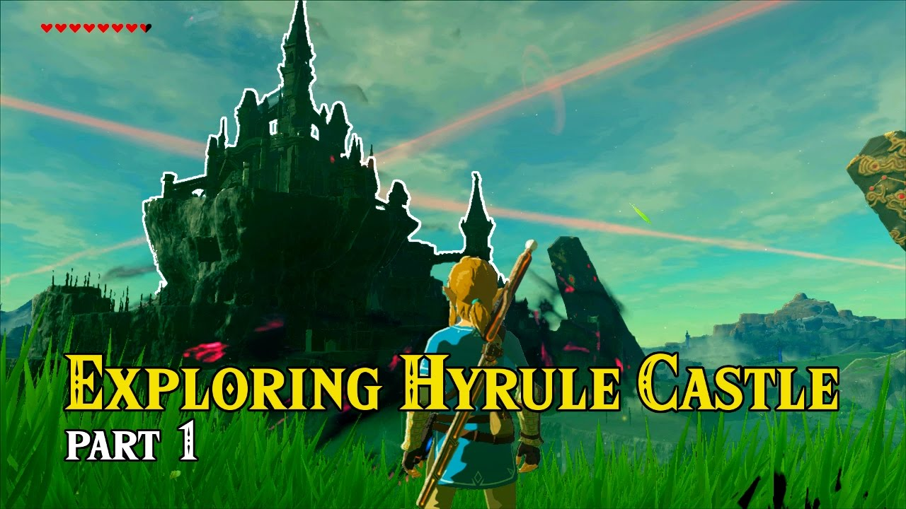 Zelda Breath Of The Wild Hyrule Castle Exploration Docks To Observation Room Youtube
