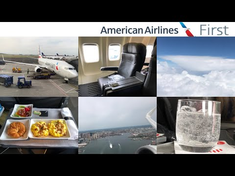 American Airlines FIRST Class: Boston To Chicago