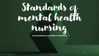 Standards of Mental Health Nursing