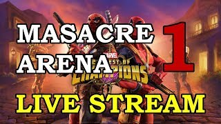 Masacre Arena - Part 1 | Marvel Contest of Champions Live Stream