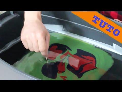Transfert d'image par l'eau - Hydrographie Water Transfer (Swirling)