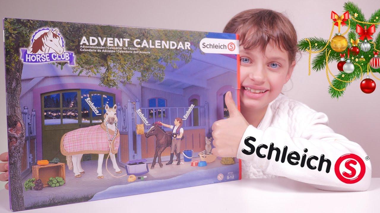 Jouet Calendrier De L Avent Schleich Horse Club Set 97151 Studio Bubble Tea Unboxing