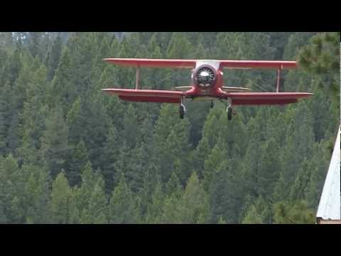 Beech Staggerwing Landing