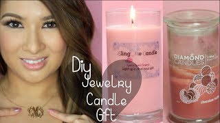 How to Make Soy Candles| Diamond Candle Inspired| Monogram Necklace Giveaway Closed
