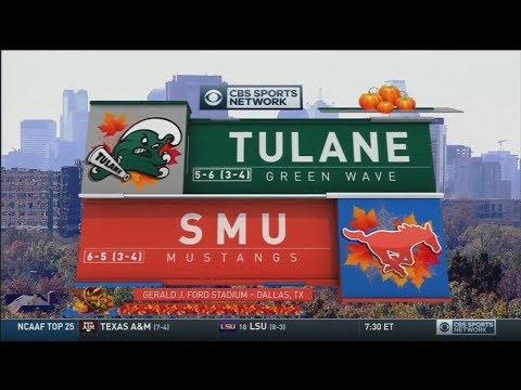 November 25, 2017 - Tulane Green Wave vs. SMU Mustangs Full Football Game 60fps