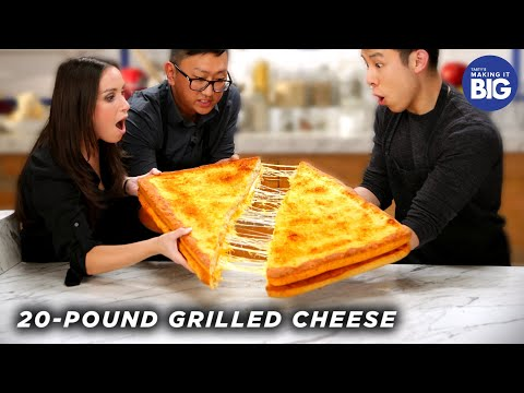 I Made A Giant 20-Pound Grilled Cheese For HellthyJunkFood Tasty