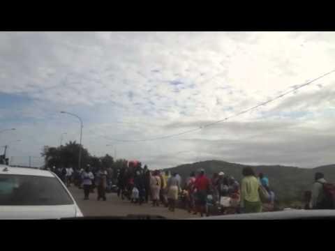 Border crossing in Mozambique