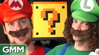 super mario smash block challenge ft game grumps