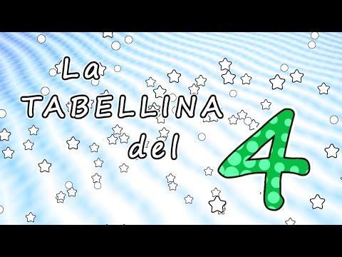 La tabellina del 4 - tabellina del quattro - canzoni per bambini -  Baby cartoons