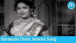 Sarasuda Dhari Jeraraa Song - Kanyasulkam Movie Songs - NTR - Savitri - S Janaki