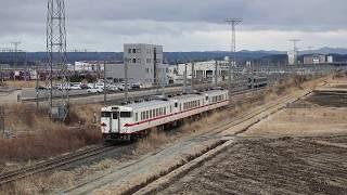 青い森鉄道 キハ40系回9583D 八戸~陸奥市川 2018年3月16日