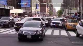 Unmarked police cars responding New York Manhattan 2015 HD ©