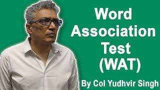 Word Association Test (WAT) By Col Yudhvir Singh    The Lakshya Aca...