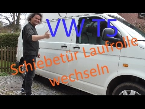 vw t5 schiebet r laufrolle reparieren youtube. Black Bedroom Furniture Sets. Home Design Ideas