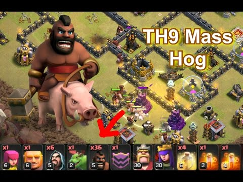 Mass Hog Attack Strategy (TH9)