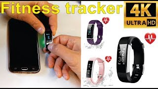 Review and how to set up a generic fitness tracker with VeryFitPro app - (Amazon)
