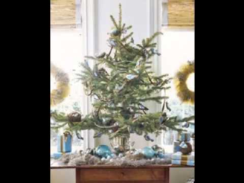 Natural Christmas Tree Decorations Ideas.Natural Christmas Tree Decorating Ideas