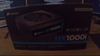 corsair hx1000i power supply short unboxing