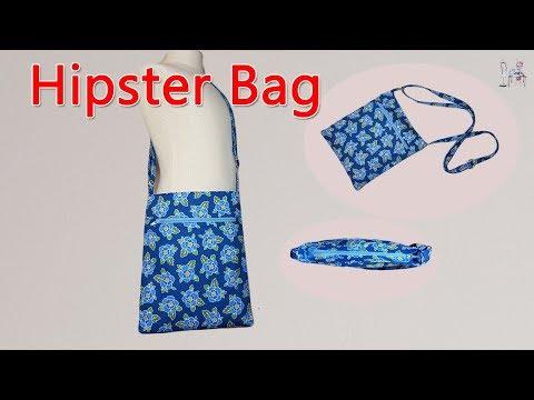 HIPSTER  BAG | ฺBAG MAKING |CROSSBODY BAG | ZIPPER BAG | DIY BAG | SHOULDER BAG | SEWING TUTORIAL