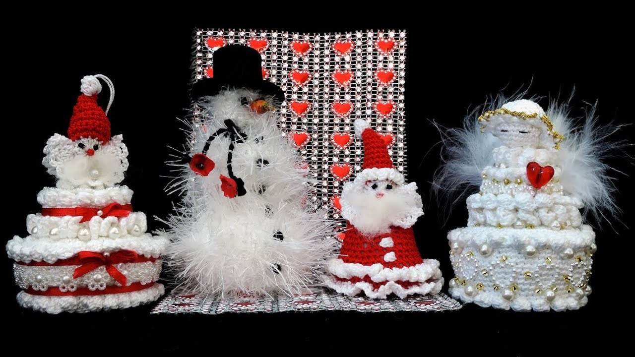 schneemann engel weihnachtsmann santa claus crochet. Black Bedroom Furniture Sets. Home Design Ideas
