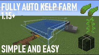 Minecraft 1.15 Simple and Easy Kelp Farm & Dried Kelp (Fully Auto)