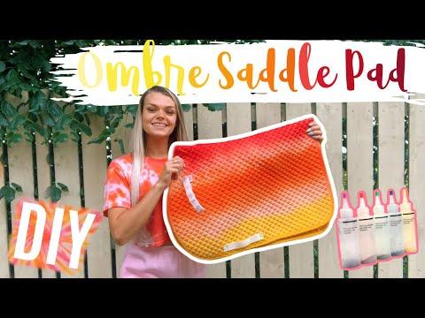 DIY Tie Dye Saddle Pad | Super Easy | Ombre Tutorial