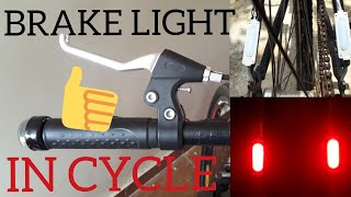 Brake light for cycle || installing brake light in cycle || DIY brakelight for normal  cycle