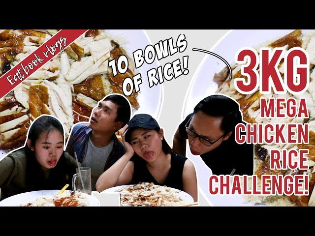 FINISH 3KG MEGA CHICKEN RICE AND IT'S FREE! | Eatbook Vlogs | Ep 47
