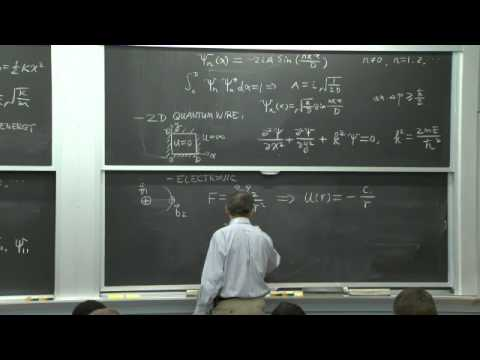 4. Solutions to Schrödinger Equation, Energy Quantization