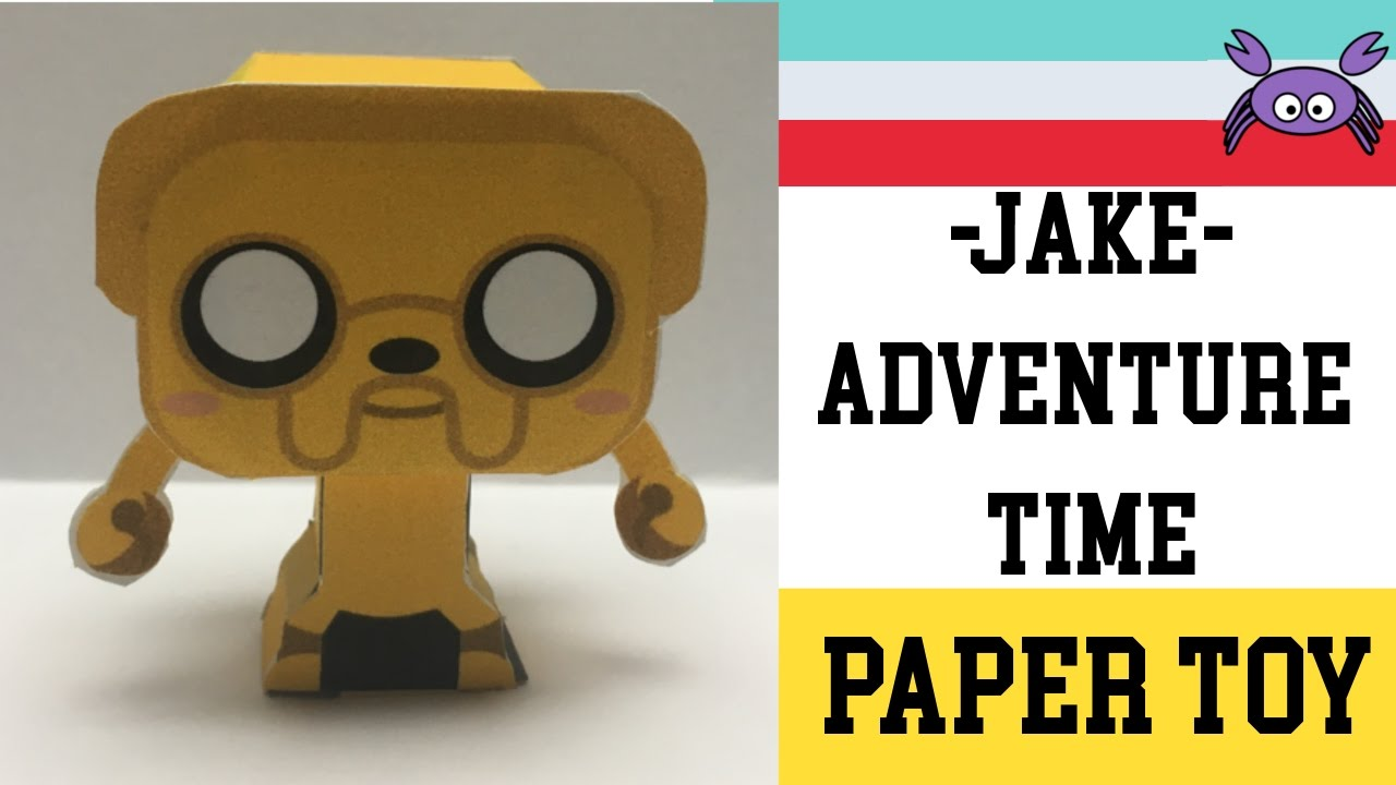 How To Make A Jake Adventure Time Paper Toy Papercraft Free