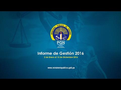 Informe de Gestión 2016 - Ministerio Público de Panamá