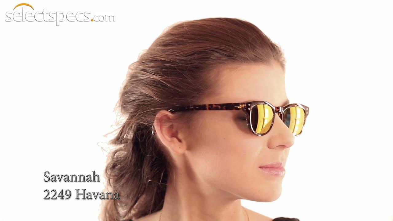 b8c18b6c2ca7 Wayfarer-style Mirrored Sunglasses for Ladies - Savannah 2249 (Havana)