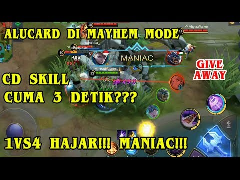 ALUCARD DI MAYHEM MODE CD SKILL CUMA 3 DETIK AUTO BRUTAL 1VS4 MANIAC!!!