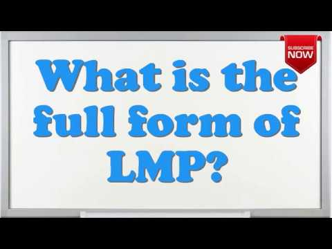 What is the full form of LMP?