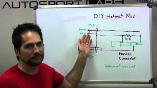 Diy Racing Helmet Microphone