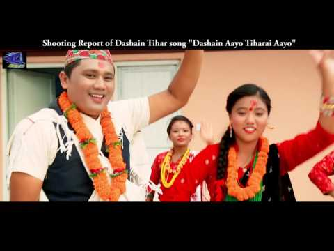 Dashain Aayo Tiharai Aayo Shooting Roport of Dashain Tihar Song by Quality Films Pvt. Ltd